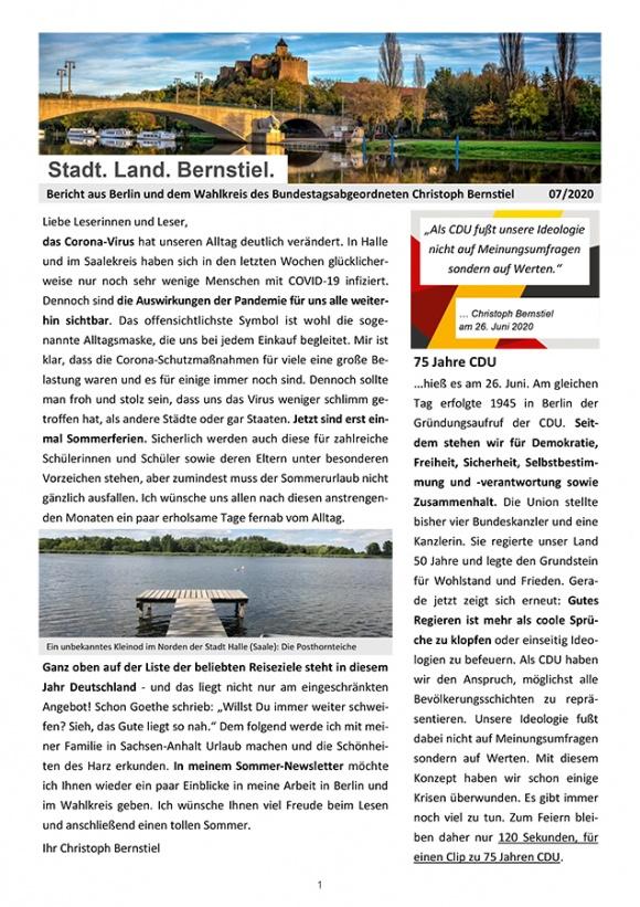 Stadt. Land. Bernstiel: Ausgabe Juli 2020