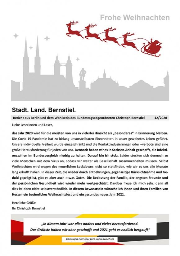 Stadt. Land. Bernstiel: Ausgabe Dezember 2020