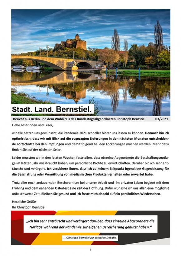 Stadt. Land. Bernstiel: Ausgabe März 2021