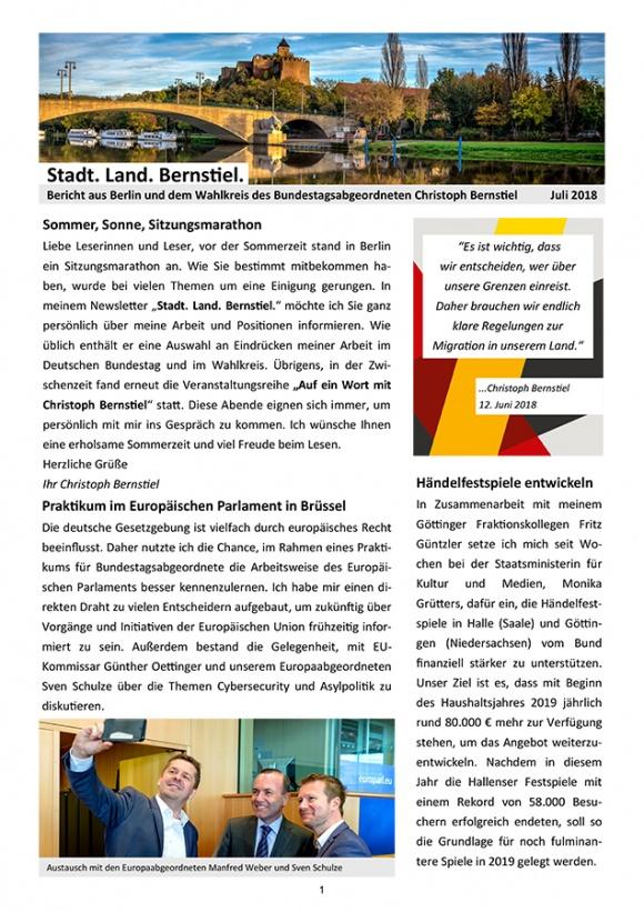 Stadt. Land. Bernstiel: Ausgabe Juli 2018