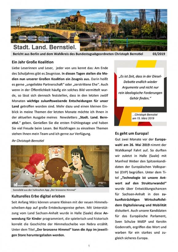 Stadt. Land. Bernstiel: Ausgabe März 2019