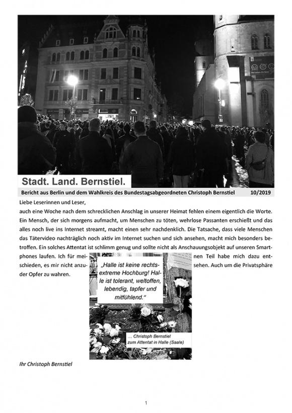 Stadt. Land. Bernstiel: Ausgabe Oktober 2019
