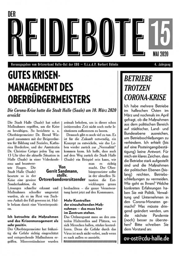 Reidebote: Ausgabe Mai 2020